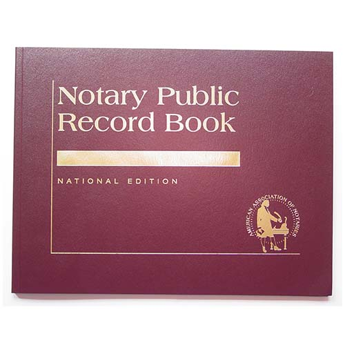 Florida Contemporary Notary Public Record Book - (with thumbprint space)