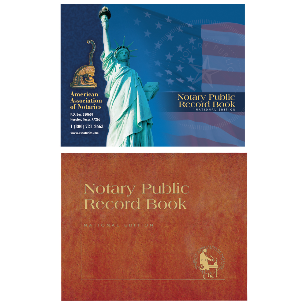 Florida Notary Public Record Book - (448 entries with thumbprint space)