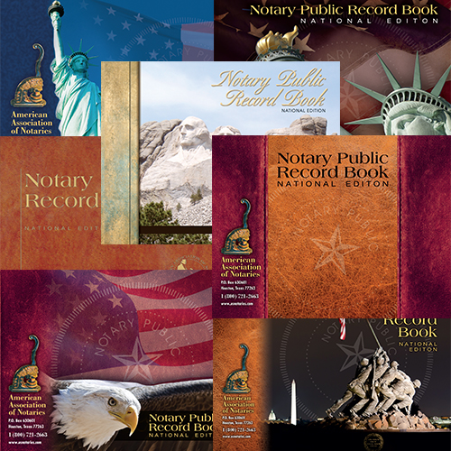 Florida Notary Public Record Book - (352 entries with thumbprint space)