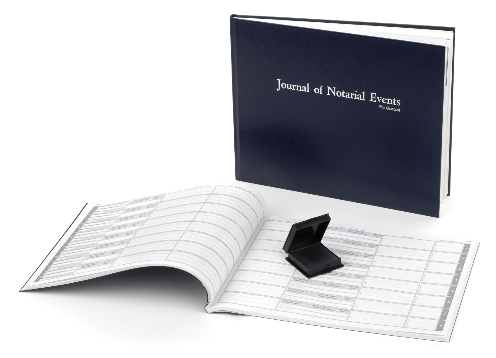 Florida Hard Cover Notary Journal with Inkless Thumbprint Pad